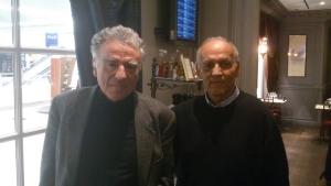 Ángel González y J. B. Deloly miembro de la Fundación Allais, Paris, Enero de 2.014