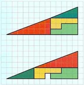 Las figuras son las mismas abajo y arriba, pero hay un espacio vacío