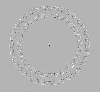 Fijar la vista en el centro y mover la cabeza adelante-atrás